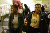 [Denver, CO - Shot on: 9/24/04]  Gina Marshall,18, (left) and Shontel  Daniel, residents at Urban...