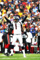 FULL-FRAME, UNCROPPED, UNTONED  JOE637 - Denver Broncos kicker Jason Elam, #1, celebrates his...