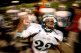 (DENVER, Co., SHOT 9/30/2004) Silver Creek High School's Jamal Albaiz (#22), a junior on the team,...