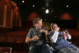 Harrison Rains and Matt Vogl have too much fun at the Starz Film Center a the Tivoli Center in...