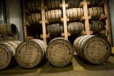 Charred oak barrels, , which brings out vanilla flavors, are used to age the whisky at Stranahan...