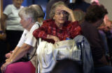 [Lakewood, CO - Shot on: 10/12/04] Isabelle Schmidt, 89, is exhausted, waiting more than two hours...