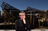 (Denver, Colo., October 7, 2004) Portrait of Architect Daniel Libeskind in front of the Denver Art...