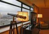 On a clear day you have great mountain views, in the Ritz -Carlton Suite, Thursday morning, March...