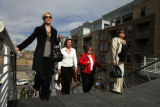Area brokers took a tour of development from the Millennium Bridge in Denver, Colo, Thursday,...