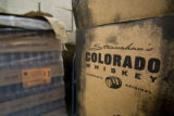Boxes and bottles for packing and shipping at Stranahan Colorado Whiskey distiller. EDS visits the...