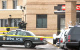 Boulder Police  and SWAT stand outside Boulder Community Hospital   Monday March 17,2008. A man...