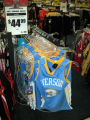 Kid-sized Denver Iverson jerseys are at Modell's Sporting Goods in downtown Philadelphia sell for...