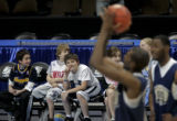 (from left) Tulsa Oklahoma residents 8 year-old Caleb Branch (cq), 7 year-old Trey Phipps (cq) and...