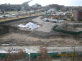 Site work at the Auraria Campus Science building. The site at Speer and Arapahoe has been cleared,...