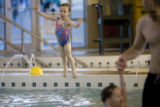DM0085   Vienna Danna, 3, swims at the Recreation Center at Eastridge  in Highlands Ranch, Colo....