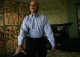 Jerry Caruso , President stands in his show room for Caruso Custom Kitchen Design in the Wheat...