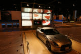 MJM887 A Nissan GT R is seen as setup is done for The Denver International Auto Show Tuesday...