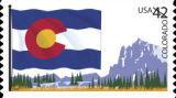 the new Colorado postage stamp