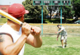 Wifflin' Dixie pitcher Zac Parkos, of Broomfield, releases a pitch to Team America's Lucas...