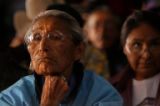 78 years old Della Yazzie (cq) lives in Black Falls, Ariz., on the edge of an open pit uranium...