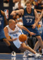 (Denver, CO), SHOT 4/27/04-- (MARC PISCOTTY/ROCKY MOUNTAIN NEWS) The Denver Nuggets Jon Barry...