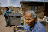 90 year-old Vera Begay (cq) lives in a home on the Navajo reservation in eastern Arizona. Her home...