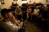 Toby Bethel (cq) speaks to friends at Eagle Summit Ranch giving them a glimpse into his daily...