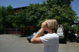 John Besemer (cq) looks over at his former apartment at 995 Marine St. in Boulder. Besemer had...