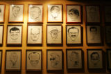 Caricatures line The Denver Press Club wall, most of them drawn by Jean Tool, (cq) representing...
