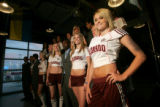 BG_0034  Models from Donna Baldwin stand with players to show off the Colorado Rapids new...