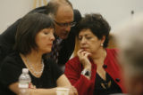 (from left) Council woman Judy Montero (cq), Denver City Attorney David Fine (cq) and Katherine...
