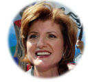 (NYT18) LOS ANGELES -- Aug. 6, 2003 -- CALIF-RECALL-2 -- Arianna Huffington after announcing her...