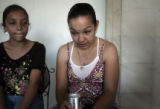 Yeltsin Dominguez, 11, and Daisy Loya,  26, extended family members of Adriana Ronquillo and her...