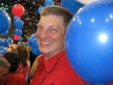 Wayne Williams, El Paso County Commissioner, revels in the atmosphere after John McCain's...