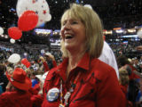Delegate Sue Sharkey of Windsor soaks in the revelry after John McCain's speech. The Colorado...