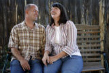 35 year-old Brenda Anderson (cq) and 38 year-old Jeff Anderson (cq) pose for a portrait at their...