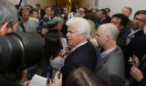 DCCD117 - Senate Banking Committee Chairman Sen. Christopher Dodd, D-Conn., center, tries to make...