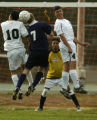 (Aurora, Colo., October 4, 2004) Aurora Central High School players Mario Frausto, left, and Jairo...