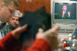 (10/05/04, DENVER, CO)  Volunteers and staffers gathered at the 96th Hour Bush-Cheney Headquarters...