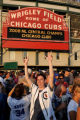CXC210 - Chicago Cubs fans celebrate outside Wrigley Field in Chicago after the Cubs defeated the...