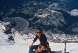 Mike Price on the Liberty Cap late in the day on June 20, 1992, on Mt. Rainier. On June 21, 1992,...