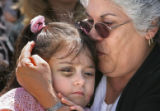 Family and friends of 29-year-old Rosemary Rosales attend her funeral at the San Frances or Rome...
