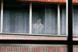 Andrew Speaker looks out of his room at National Jewish Medical and Research Center, Colfax Ave....