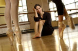(Arvada, Colo., October 19, 2004)  Dancer Christina Noel-Adcock in her dance studio at the Arvada...