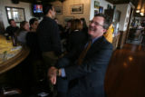 William J. Leone laughs while talking of enjoying the outcome of the Nacchio trail verdict just...