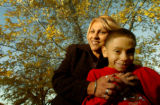 (LAKEWOOD, CO., OCTOBER 20, 2004)  Valentina R. Lucero of Lakewood, Co., and her son, Timothy, 10,...