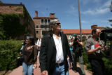 Embattled University of Colorado Professor Ward Churchill attended a closed-door meeting of the...