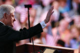 Former President Bill Clinton addresses the 2008 Democratic National Convention in Denver....