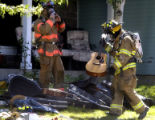 (Arapahoe County, Colo.  Sept 20, 2004) Firefighters from the Cunningham Fire Protection District...