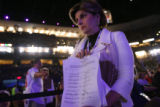 Members of the media and celebrities attend the Democratic National Convention in Denver. The...