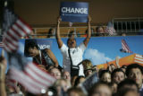 Barack Obama accepts his party's nomination for President of the United States on the final...