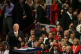 Addressing the 2008 Republican National Convention, Senator and presidential candidate John McCain...