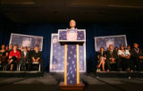 Republican Presidential candidate John McCain speaks at the American GI Forum Convention at the...