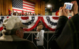 Republican presidential candidate Senator John McCain (R-AZ) addresses supporters at the National...